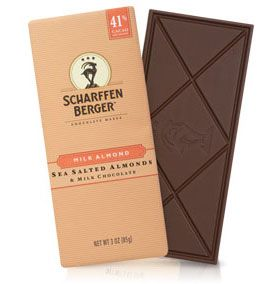 "SCHARFFEN BERGER Chocolate Maker was founded in San Francisco in 1997.   As the first American ""bean-to-bar"" chocolate manufacturer in over 50 years, SCHARFFEN BERGER Chocolate Maker led this country's contemporary resurgence in artisan chocolate-making.     SCHARFFEN BERGER 41% Cacao Milk Chocolate with Sea Salted Almonds 