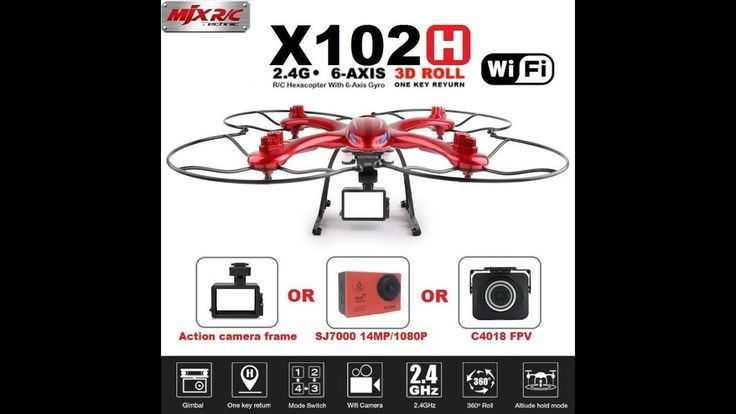 MJX X102H RC Drone With C4018&SJ7000 14MP 1080P