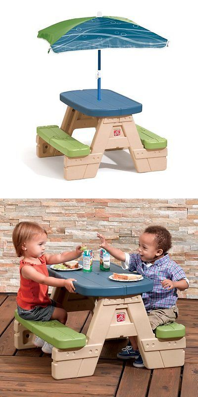 Step 2 52344: Step2 Sit And Play Picnic Table With Umbrella New -> BUY IT NOW ONLY: $49.49 on eBay!
