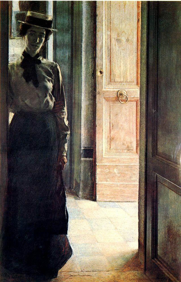 Giacomo Balla - Elisa à la porte, 1904.