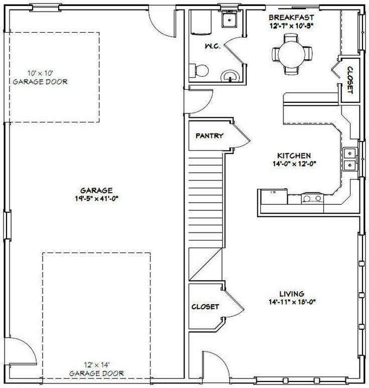 40x42 House 3Bedroom 2Bath 1,619 sq ft PDF