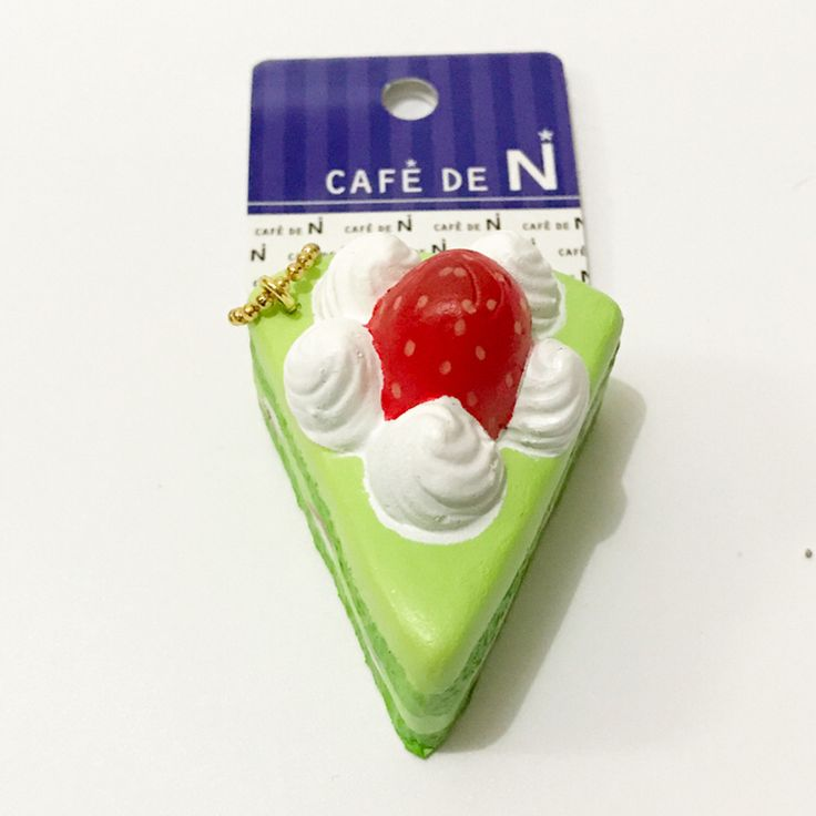 Original Japan cafe de n green tea Strawberry cake squishy slow rising soft kid toys wholesale squishys