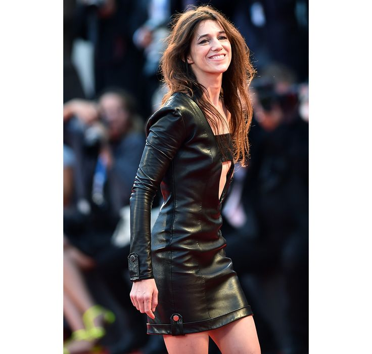 Charlotte Gainsbourg // leather , all black