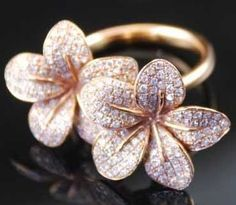 Pink Diamond flower Ring.