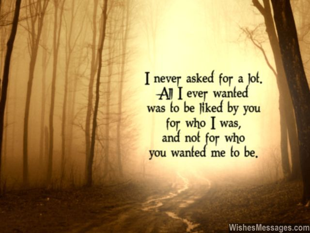 All i want is for you to like me breakup quote for boyfriend
