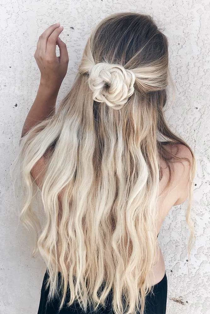 Half Up Down Prom Hairstyles Youll Fall In Love With See More