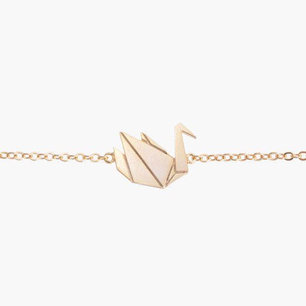 Oiseau Origami Gold Bracelet