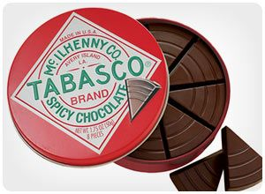 tabasco chocolate wedges