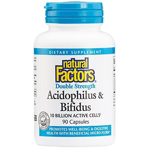 Natural Factors  Acidophilus & Bifidus Double Strength 10 Billion Active Cells 90 Capsules https://probioticsandweightloss.info/natural-factors-acidophilus-bifidus-double-strength-10-billion-active-cells-90-capsules/
