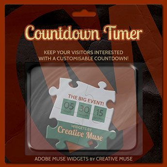 Countdown Timer Widget For Adobe Muse | Creative Muse