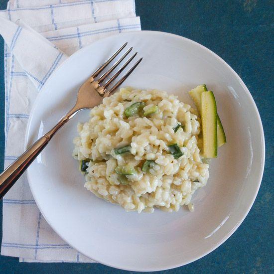 Zucchini risotto (risotto di zucchini) - AN ITALIAN IN MY KITCHEN