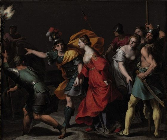 The abduction of Helen by Alessandro Turchi: