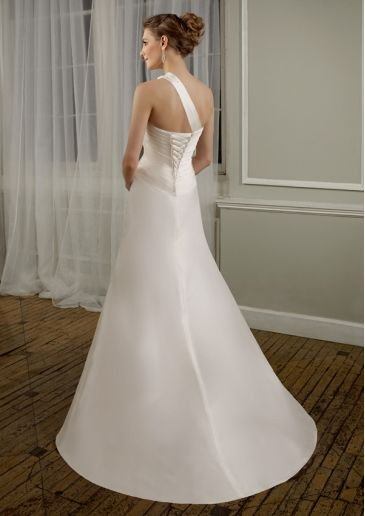 Cheap Gorgeous A-line Sweetheart Floor-length Sweeping Train Wedding Dress with Detachable Strap Under Price 110 At Gifilight.com.