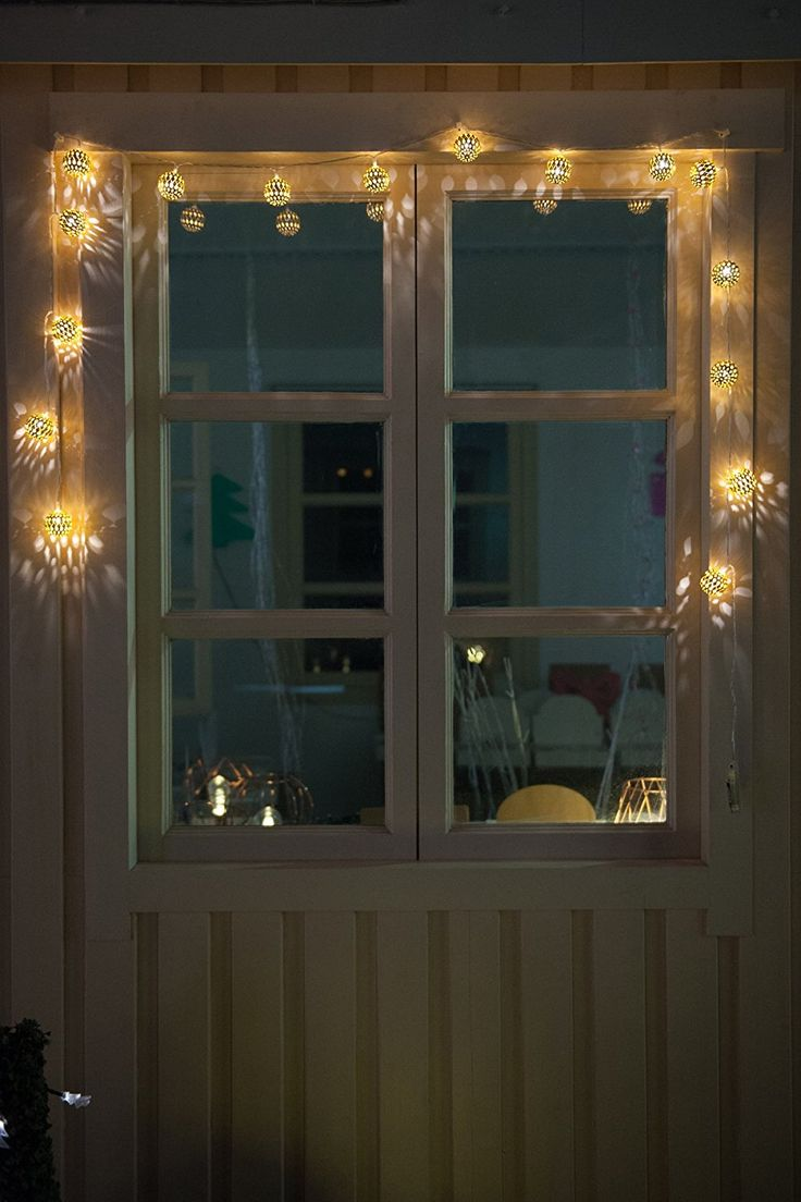 Christmas window lights decorations - Amazon Com Wed 7 4ft 16 Led Moroccan Ball Battery String Light Fairy