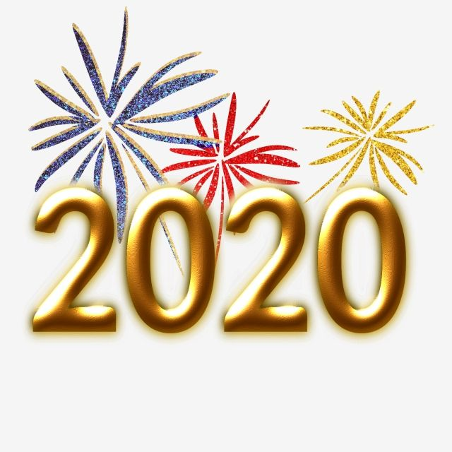 2020 Gold Texture Fireworks 2020 Year New Year Png And