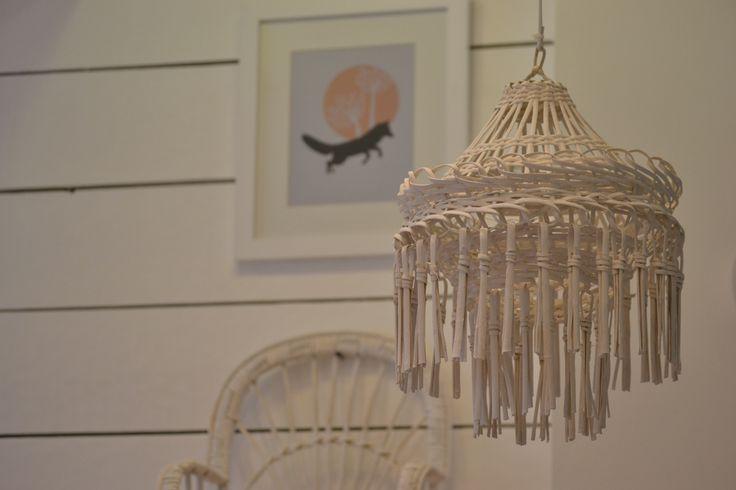 Lámpara Mimbre, decoración Infantil  www.elclankids.cl