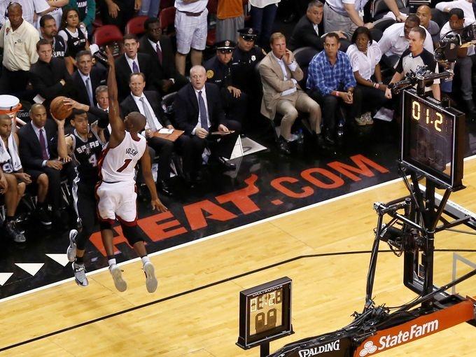 Game 6 in Miami: Heat 103, Spurs 100 (OT)