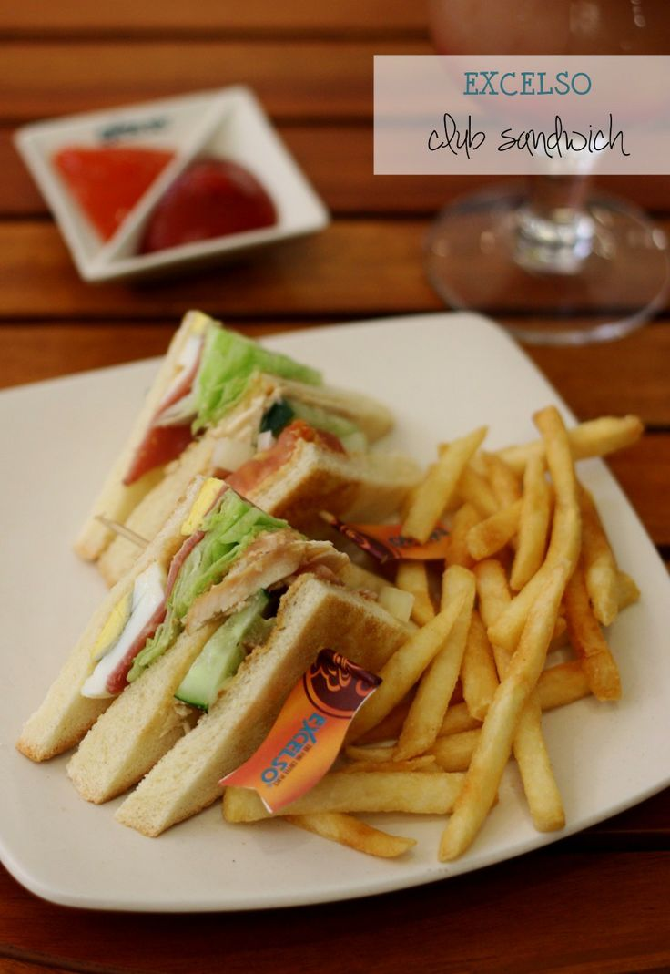 Need a dinner idea? Try this club sandwich at Excelso Coffee - Kuningan City UG