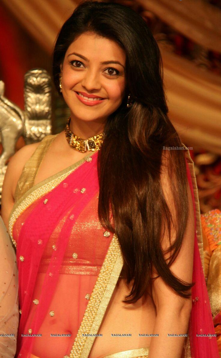 Kajal Aggarwal looking beautiful in half Saree