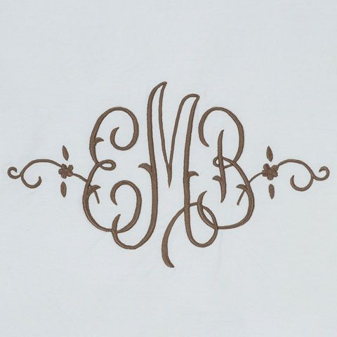 Leontine Linens--a whole page of monogram styles