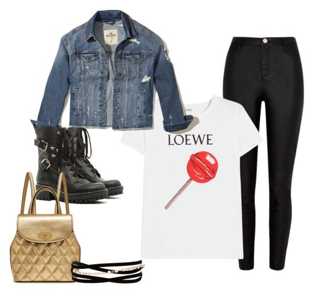 3 by vanessa-fuentes-salas on Polyvore featuring moda, Loewe, Hollister Co., River Island, RED Valentino, Mulberry and Kenneth Jay Lane