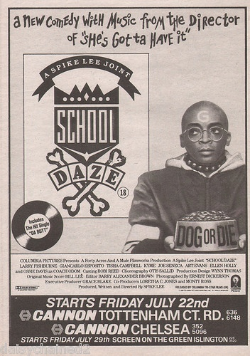 VINTAGE MOVIE AD - SCHOOL DAZE SPIKE LEE (1988)