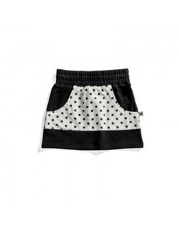 Minti | Zippy Skirt - Black Polka Dot