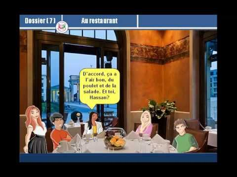 Dialogue - Dossier 7 [Au restaurant] - YouTube