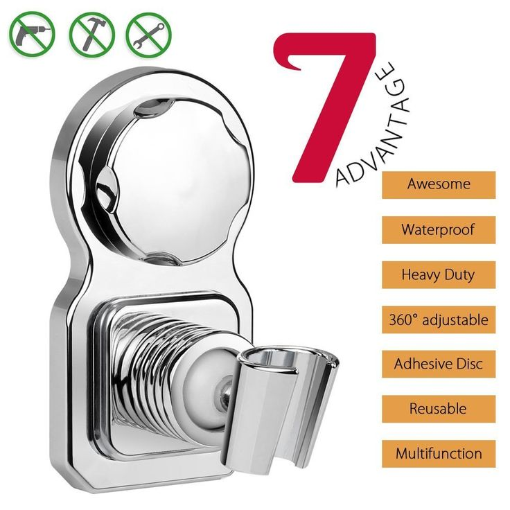 Vanzon Shower Head Holder Vacuum Suction Cup Shower Removable Handheld Shower Holder & Adjustable Head Holder Shower- Reusable for bathroom accessories