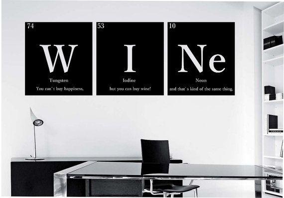 VIN nerd avec devis tableau périodique des par StateOfTheWall