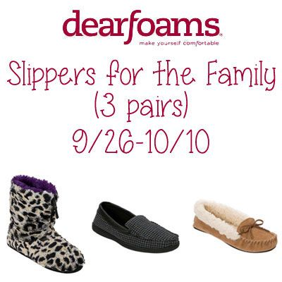 Dearfoams Slippers Giveaway 10/10 ~ Tales From A Southern Mom