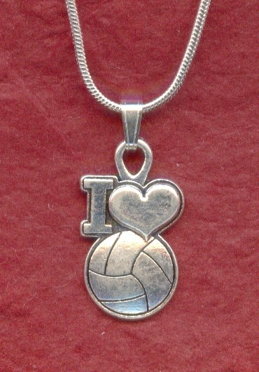 I LOVE NETBALL Necklace