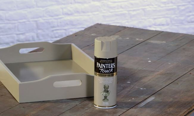 To add a splash of style to kitchen items, choose from our latest colours in the Rust-Oleum Painter's Touch range and follow the steps in our video. It's a fast and easy way to brighten accessories, like tea trays, and combine the practical with some beautiful... #upcycle #DIY