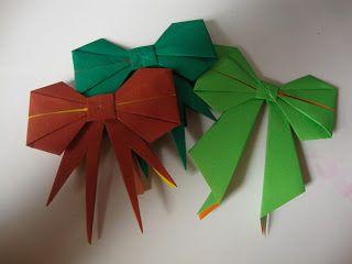 thegluegungirl: Origami bow tutorial