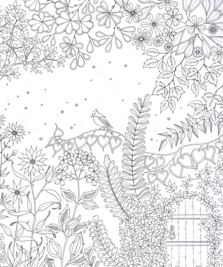 Free Adult Coloring Page Secret Garden