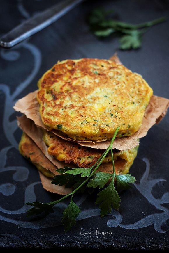 Pancakes cu porumb si patrunjel - detaliu pancake