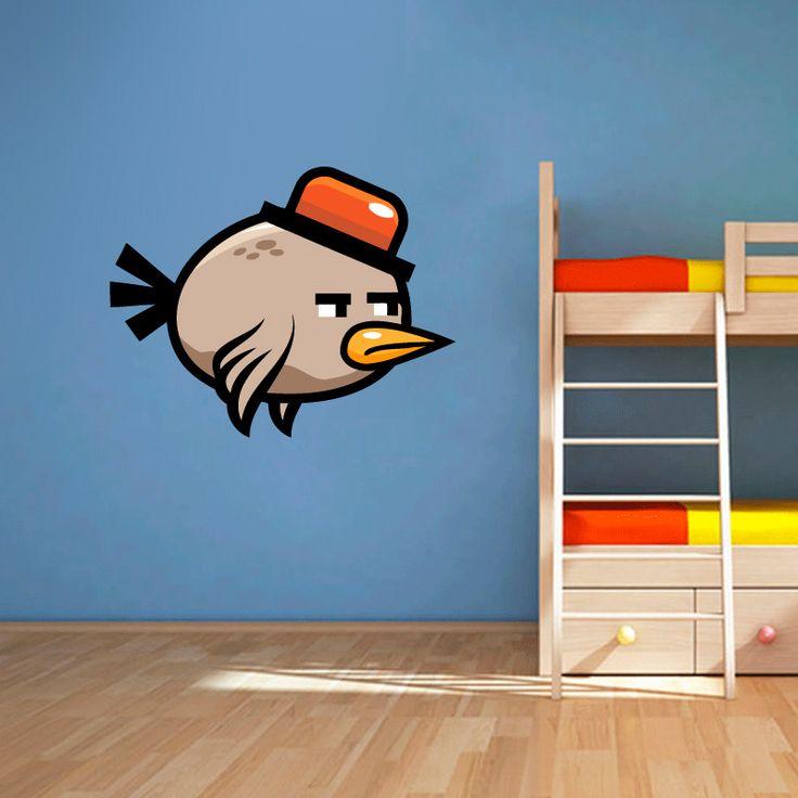 Muursticker Angry birds II | Vrolijk die ene saaie muur op met een muursticker! Gemaakt van vinyl en gemakkelijk aan te brengen. Bekijk snel onze collectie! #muur #sticker #muursticker #slaapkamer #interieur #woonkamer #kamer #vinyl #eenvoudig #voordelig #goedkoop #makkelijk #diy #angrybirds #angry #birds #chagrijnig #vogel #dier #cartoon #grappig #kinderkamer