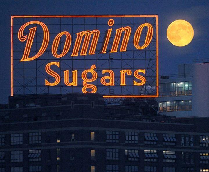 Super moon and Domino Sugars