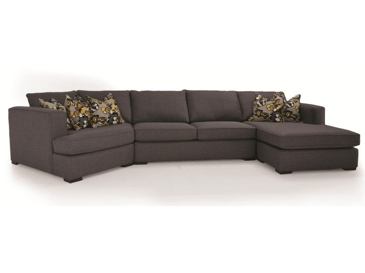 Perfect for family rooms and entertainment areas, this 3-piece sectional sofa brings spacious seating and contemporary style to your home. Its track arms and block legs create a clean and crisp silhouette against the backdrop of any room, while sinuous wire springs and high-density seat foam make for a soft and supportive place to relax for multiple people. A cozy cuddler on its left and a chaise on its right provide a versatile lounge experience that everyone will love. Topped with…
