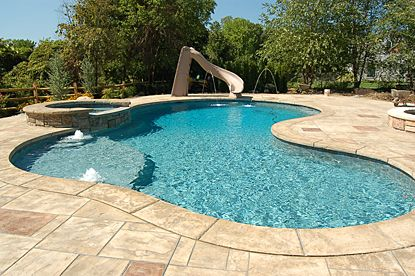 pictures of stamped concrete pool decks - Google Search