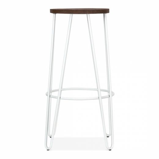 Hairpin White Stool with Seat Option | Cult Furniture UK