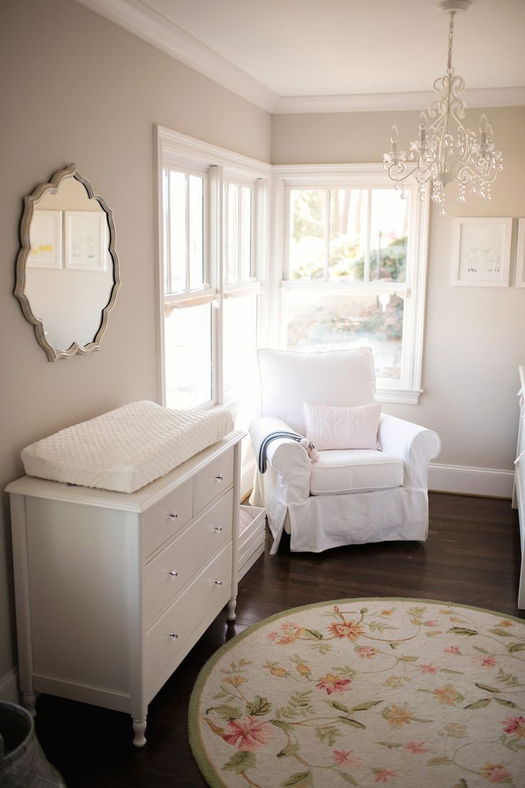645 best g i r l n u r s e r y images on pinterest girl rooms baby girl nursery neutral soft colors chandelier arubaitofo Gallery