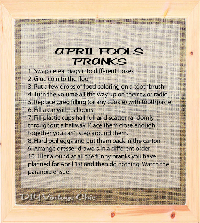April fools pranks | Be prepared for the pranks and jokes.