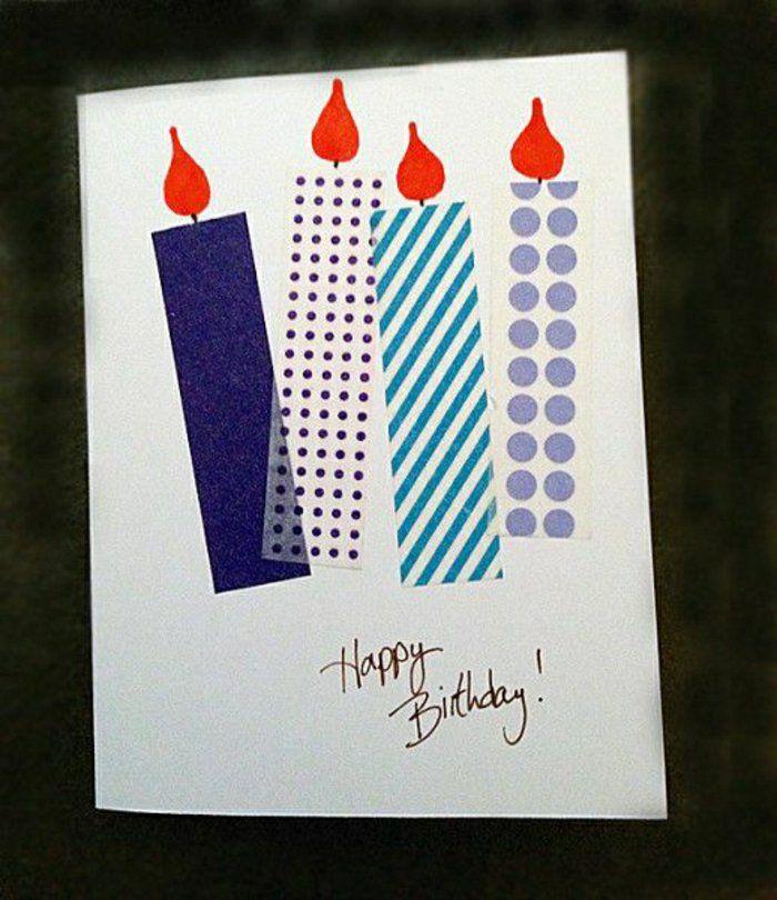 comment faire vous-memes une carte d'anniversaire avec bougies décoratifs