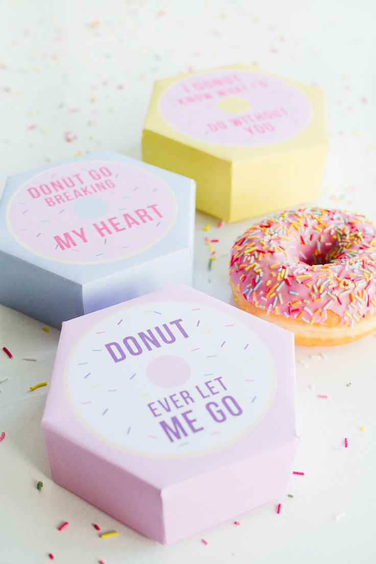 DIY donut boxes for a pun- tastic Valentine's Day