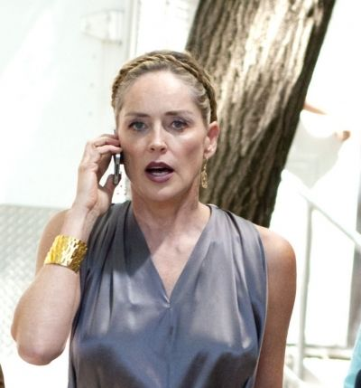 Sharon Stones Greek goddess hairstyle
