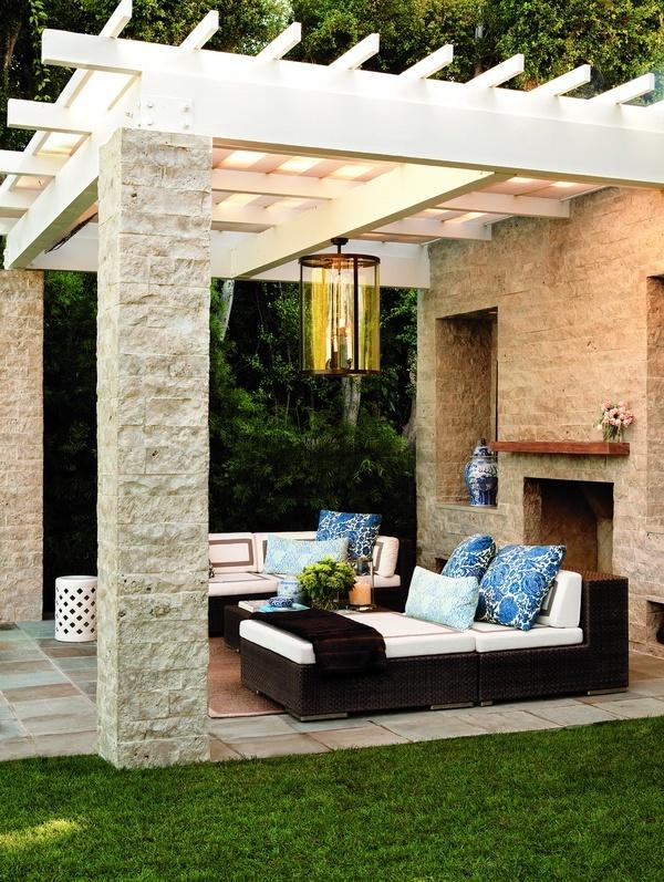 furniture ideas for patio. minus the pergola