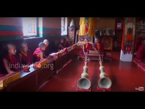 Sacred chanting and the instrumental music of Buddhist worship The recitation or chanting of mantras and playing instrumental music are a kind of worship followed centuries by Buddhist monks.  Featured here are ...