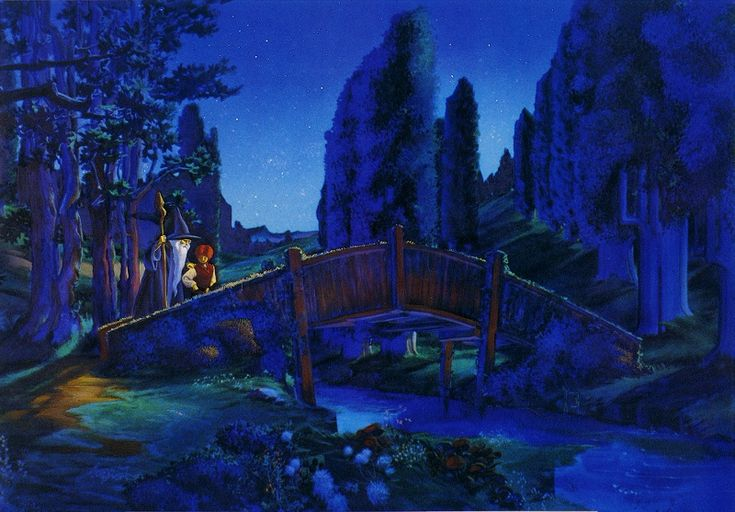 Frodo and Gandalf in the Shire - Ralph Bakshi