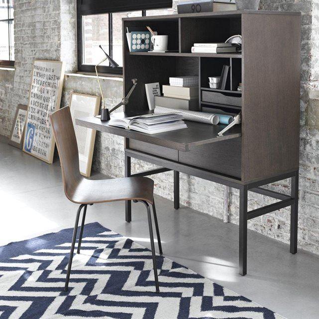 un bureau secr taire sobre et l gant ligne contemporaine ferm il permet de ranger et d. Black Bedroom Furniture Sets. Home Design Ideas